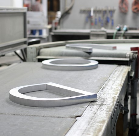 Flat Cut Metal orders are manufactured and shipped within 7 to 10 days