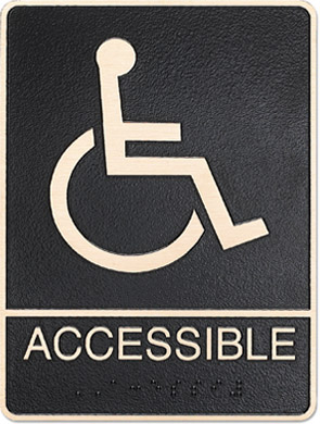 metal ada hc accessable sign Style J