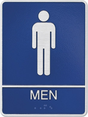 metal ada mens restroom sign Style G