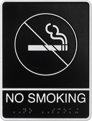 metal ada no smoking sign Style i