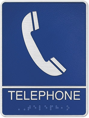 metal ada telephone sign Style D