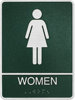 metal ada womens restroom sign Style E